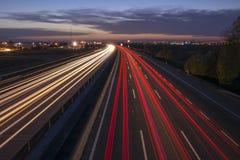 Autostrad światła Fotografia Royalty Free