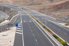 autostrada cztery pasa ruchu Zdjęcia Stock