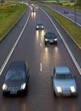 autostrada dżdżysta obraz stock