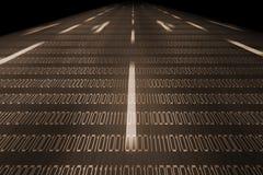 Autostrada dell'informazione Fotografia Stock