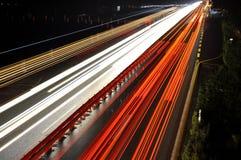 Autostrada di notte Immagine Stock
