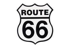 Autostrada drogowego znaka trasa 66 Obraz Royalty Free