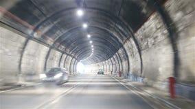 Autostrada drogowy tunel w Włochy zbiory