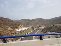 Autostrada Gran Canaria Fotografie Stock Libere da Diritti
