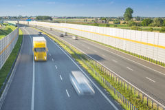 Autostrada hałasu bariery Obrazy Royalty Free