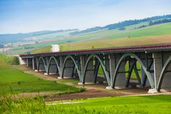 Autostrada highway in Slovakia Royalty Free Stock Images