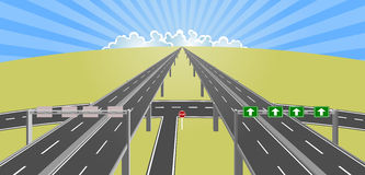 Autostrada horyzont royalty ilustracja