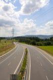 Autostrada i natura Fotografia Royalty Free