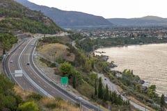Autostrada i ocean zdjęcia stock