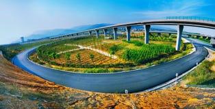 Autostrada i wiadukt Obraz Stock