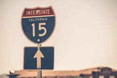 Autostrada interstatale 15 Fotografia Stock Libera da Diritti
