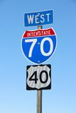 Autostrada interstatale Fotografia Stock