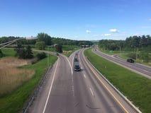 Autostrada interstatale nel Vermont immagini stock libere da diritti