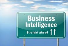 Autostrada kierunkowskazu business intelligence Obrazy Royalty Free