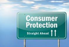 Autostrada kierunkowskazu ochrona konsumentów ilustracji