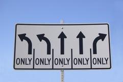 autostrada kierunkowy znak Fotografia Stock