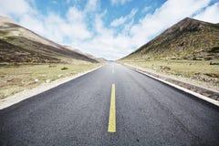 Autostrada krajobraz Obrazy Royalty Free