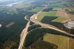autostrada krajobrazu Zdjęcia Royalty Free