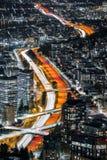 Autostrada krzyżuje Seattle śródmieście zdjęcie royalty free