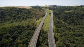 Autostrada która iść od jeden stanu inny obraz stock