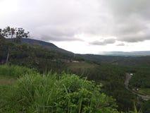 Autostrada między górami Honduras obraz stock