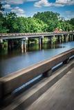 Autostrada most nad atchafalaya rzecznym basenem w Louisiana fotografia royalty free