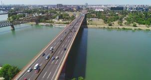Autostrada, mostu ruch drogowy Budowa w pobliżu zbiory
