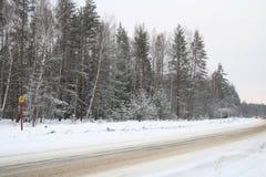 autostrada na krawężnik Zdjęcia Royalty Free