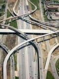 autostrada na lotniczy Zdjęcie Royalty Free