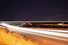 autostrada na rampie przy nocą obraz royalty free