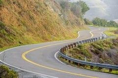 Autostrada 1 na wybrzeże pacyfiku, Kalifornia Zdjęcie Stock