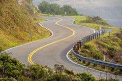 Autostrada 1 na wybrzeże pacyfiku, Kalifornia, usa Fotografia Stock