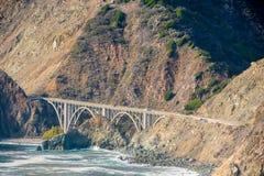 Autostrada 1 na wybrzeże pacyfiku, Kalifornia, usa Fotografia Royalty Free