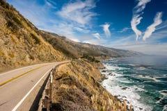 Autostrada 1 na wybrzeże pacyfiku, Kalifornia, usa Obraz Stock