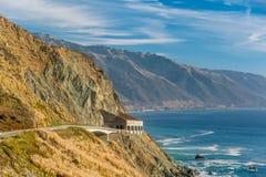 Autostrada 1 na wybrzeże pacyfiku, Kalifornia, usa Obrazy Royalty Free