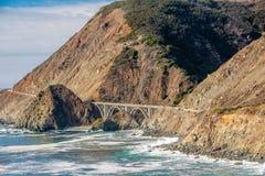 Autostrada 1 na wybrzeże pacyfiku, Kalifornia, usa Zdjęcie Stock
