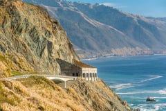 Autostrada 1 na wybrzeże pacyfiku, Kalifornia, usa Zdjęcia Royalty Free