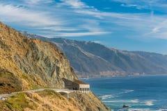 Autostrada 1 na wybrzeże pacyfiku, Kalifornia, usa Obrazy Stock