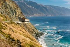Autostrada 1 na wybrzeże pacyfiku, Kalifornia, usa Obraz Royalty Free
