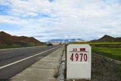 Autostrada nazionale 318 Fotografia Stock
