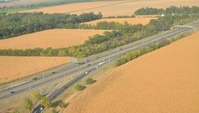 Autostrada od powietrza obrazy stock