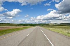 autostrada odległy widok Obrazy Royalty Free