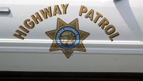 Autostrada patrolu znak na samochodzie policyjnym Zdjęcie Stock