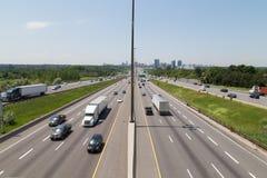 Autostrada 401 podczas dnia zdjęcia stock
