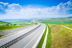 Autostrada podczas lata Fotografia Royalty Free