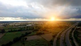 Autostrada podwyższony widok Obrazy Royalty Free