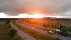 Autostrada podwyższony widok Zdjęcia Royalty Free