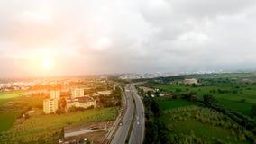 Autostrada podwyższony widok Zdjęcia Stock