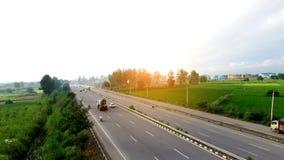 Autostrada podwyższony widok Obraz Stock