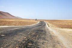 Autostrada przez pustyni obok oceanu w parku narodowym Paracas w Ica, Peru Zdjęcia Stock